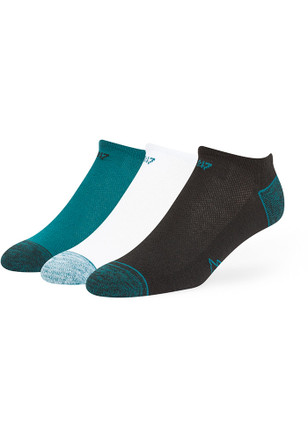 '47 Philadelphia Eagles Mens Midnight Green Blade 3 Pack No Show Socks