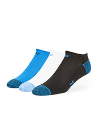 47 Detroit Lions Mens Blue Blade 3 Pack No Show Socks