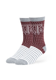 47 Texas A&M Aggies Mens Maroon Willard Dress Socks
