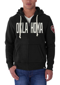 47 Oklahoma Sooners Black Cross Check Zip Fashion