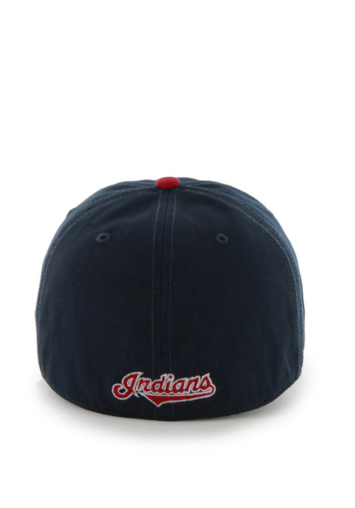 47 Cleveland Indians Mens Navy Blue 47 Franchise Fitted Hat - Image 2.   707fa67c748f