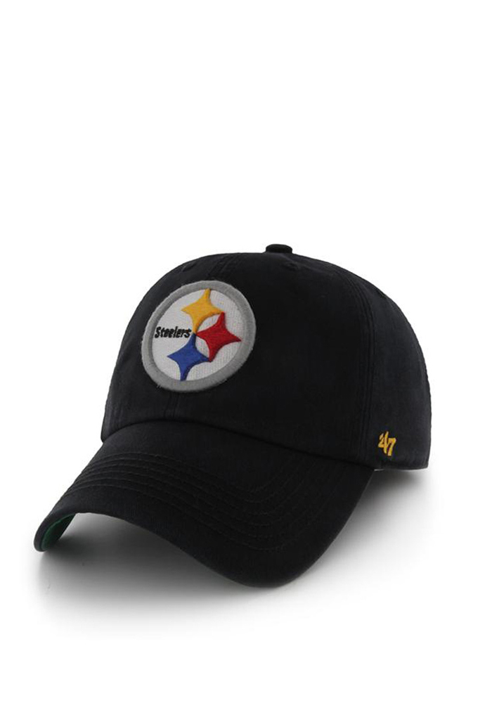 70b18ad1e70 ... nfl tuscaloosa clean up cap adjustable 7ceef a4cd3  wholesale 47  pittsburgh steelers mens black 47 franchise fitted hat image 1. 45233 9405a