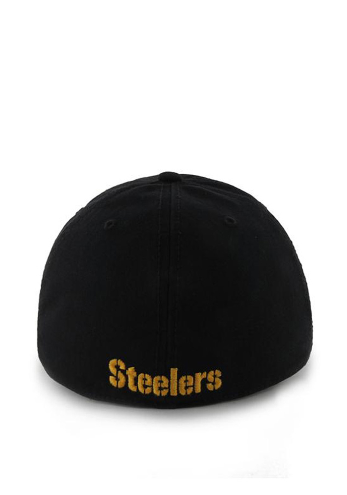 5d1155968c8 ... where to buy 47 pittsburgh steelers mens black 47 franchise fitted hat  image 2. 540a6