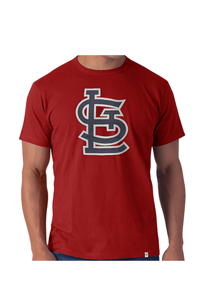 '47 St Louis Cardinals Mens Red Knockout Short Sleeve Fashion T Shirt - Image 1
