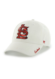 100% authentic f57f4 ddaad  47 St Louis Cardinals Womens White Sparkle Adjustable Hat