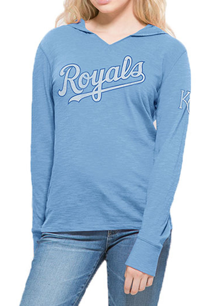 '47 Kansas City Royals Womens Light Blue Primetime Hoodie
