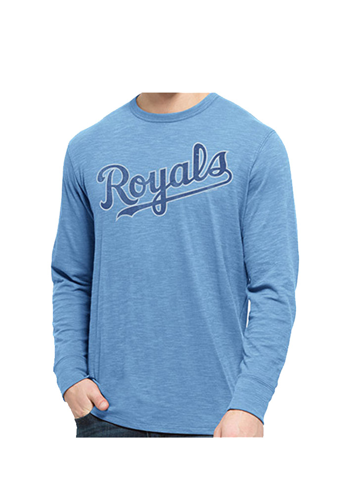 47 Kansas City Royals Light Blue Scrum Long Sleeve Fashion T Shirt - Image 1