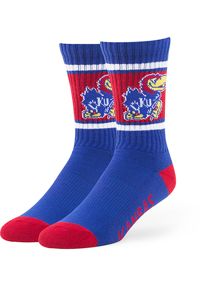 Kansas Jayhawks '47 Duster Mens Crew Socks - Image 1