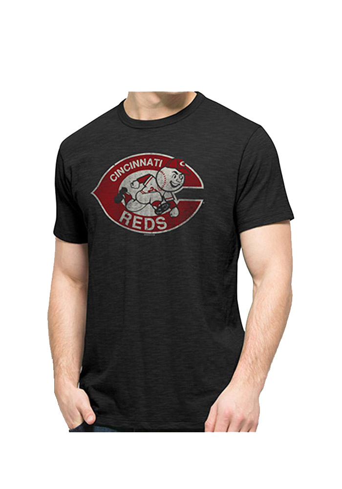 47 Cincinnati Reds Black Logo Scrum Short Sleeve Fashion T Shirt - Image 1