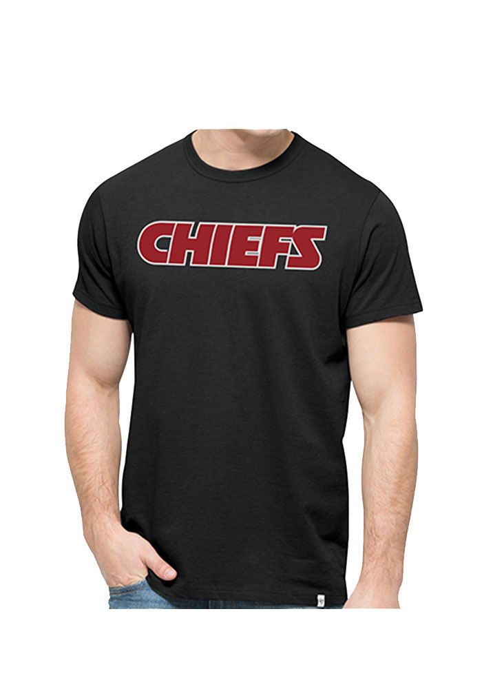 47 Kansas City Chiefs Black Crosstown MVP Short Sleeve Fashion T Shirt - Image 1