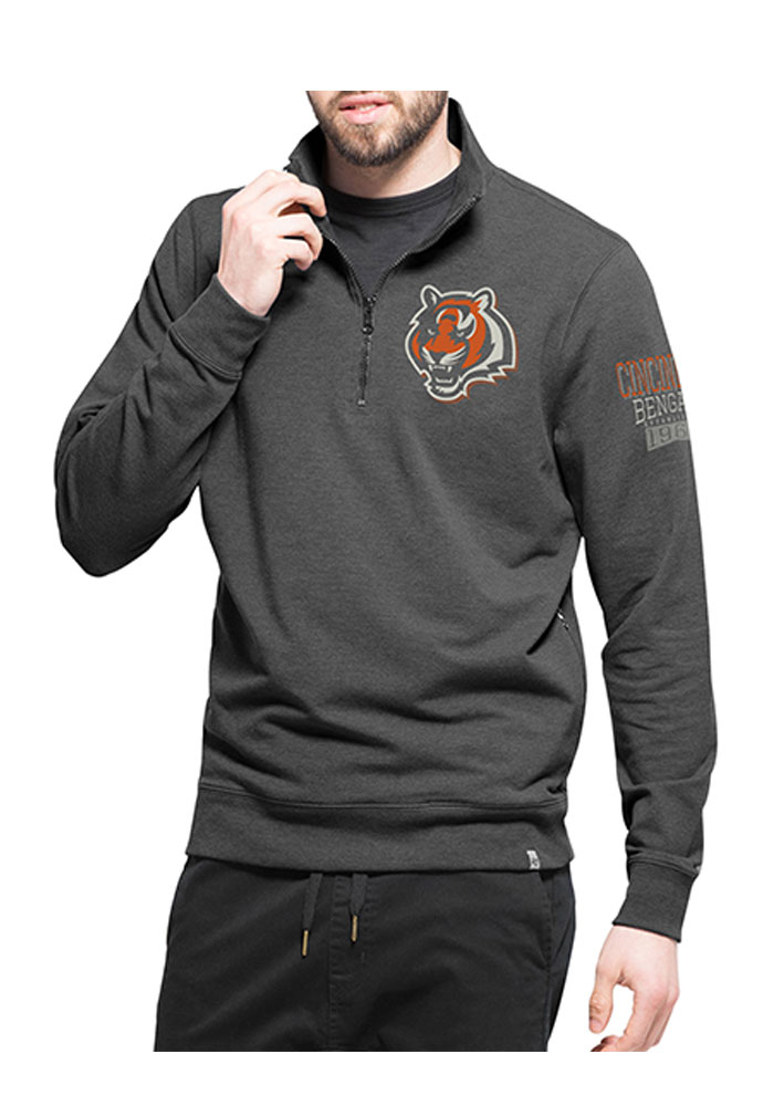 Cincinnati Bengals 47 Shift Peak 1/4 Zip Pullover - Black