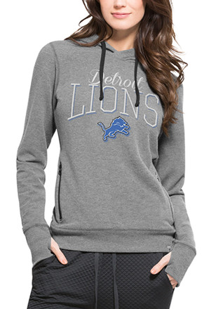 '47 Detroit Lions Womens Grey Shift Stride Hoodie