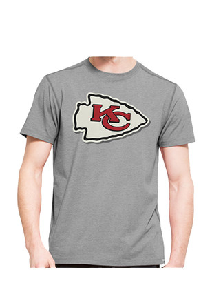 '47 Kansas City Chiefs Mens Grey SS Athleisure Shift High Point Tee Tee