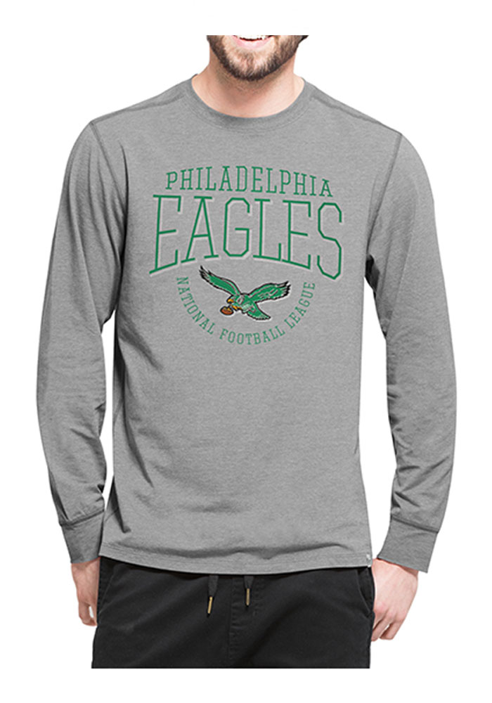 '47 Philadelphia Eagles Mens Grey Shift Cadence Athleisure Tee