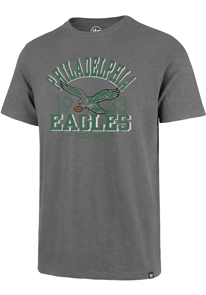 47 Philadelphia Eagles Grey Legacy Srcum Short Sleeve Fashion T Shirt - Image 1