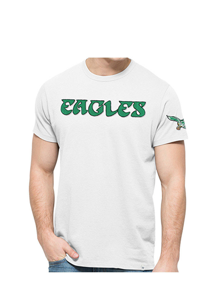 '47 Philadelphia Eagles Mens White Fieldhouse Short Sleeve Fashion T Shirt - Image 1