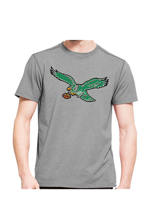 '47 Philadelphia Eagles Mens Grey SS Athleisure Shift High Point Tee Tee