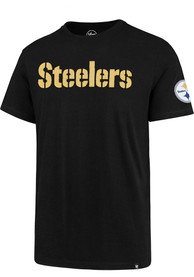 47 Pittsburgh Steelers Black Fieldhouse Fashion Tee