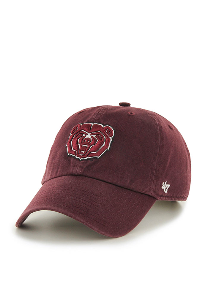 4c01c639124  47 Missouri State Bears Maroon Clean Up Adjustable Hat