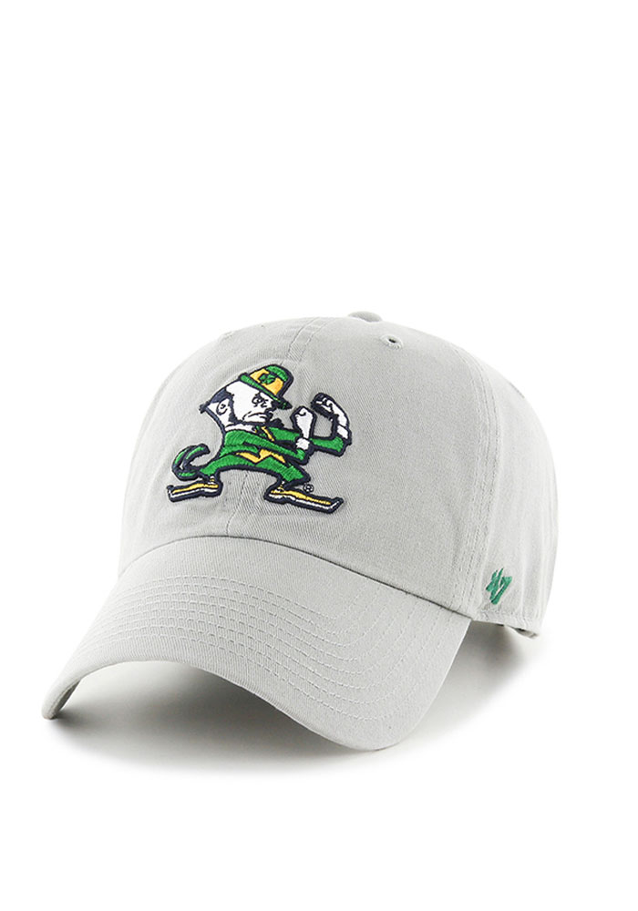 '47 Notre Dame Fighting Irish Mens Grey Clean Up Adjustable Hat - Image 1