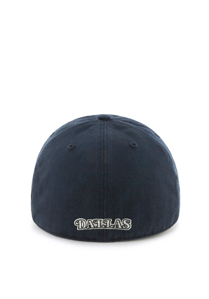 '47 Dallas Mavericks Mens Navy Blue Retro `47 Franchise Fitted Hat - Image 2