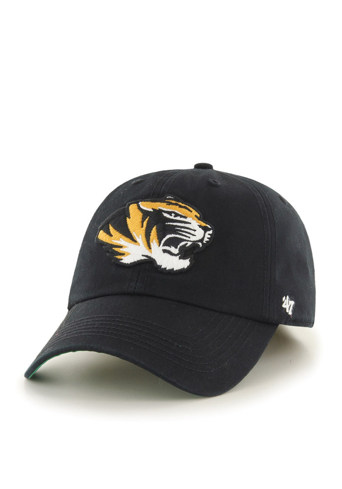 '47 Missouri Tigers Mens Black Retro `47 Franchise Fitted Hat - Image 1
