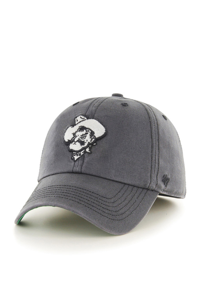 '47 Oklahoma State Cowboys Mens Grey Sachem `47 Franchise Fitted Hat - Image 1