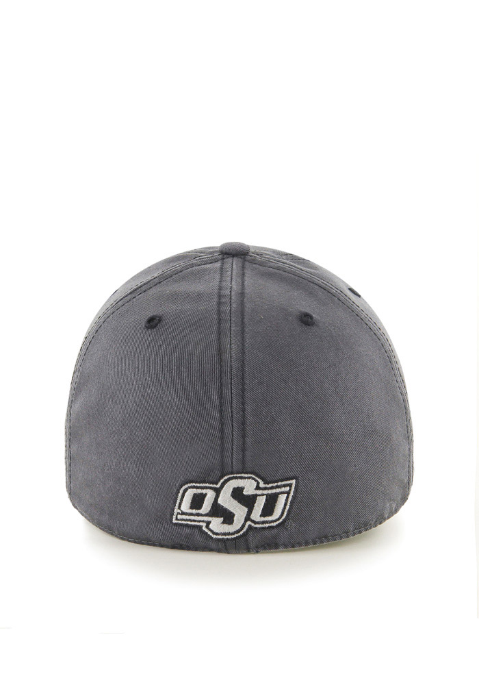 '47 Oklahoma State Cowboys Mens Grey Sachem `47 Franchise Fitted Hat - Image 2
