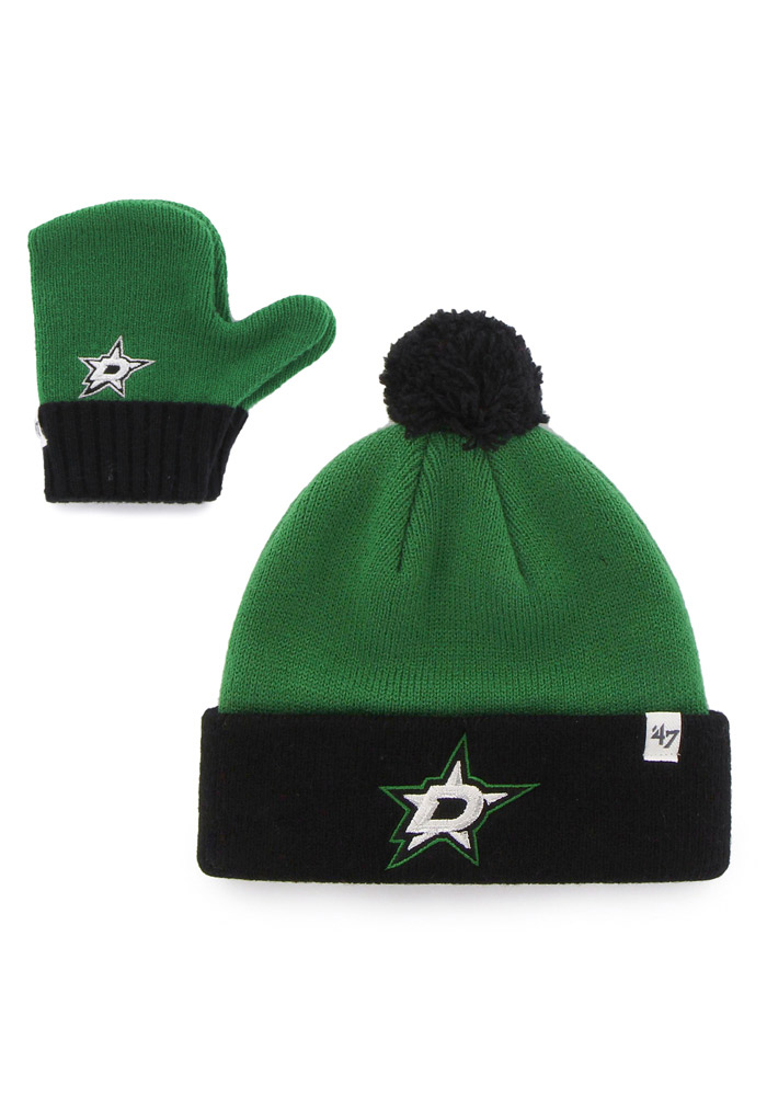 47 Dallas Stars Bam Bam Set Baby Knit Hat - Green