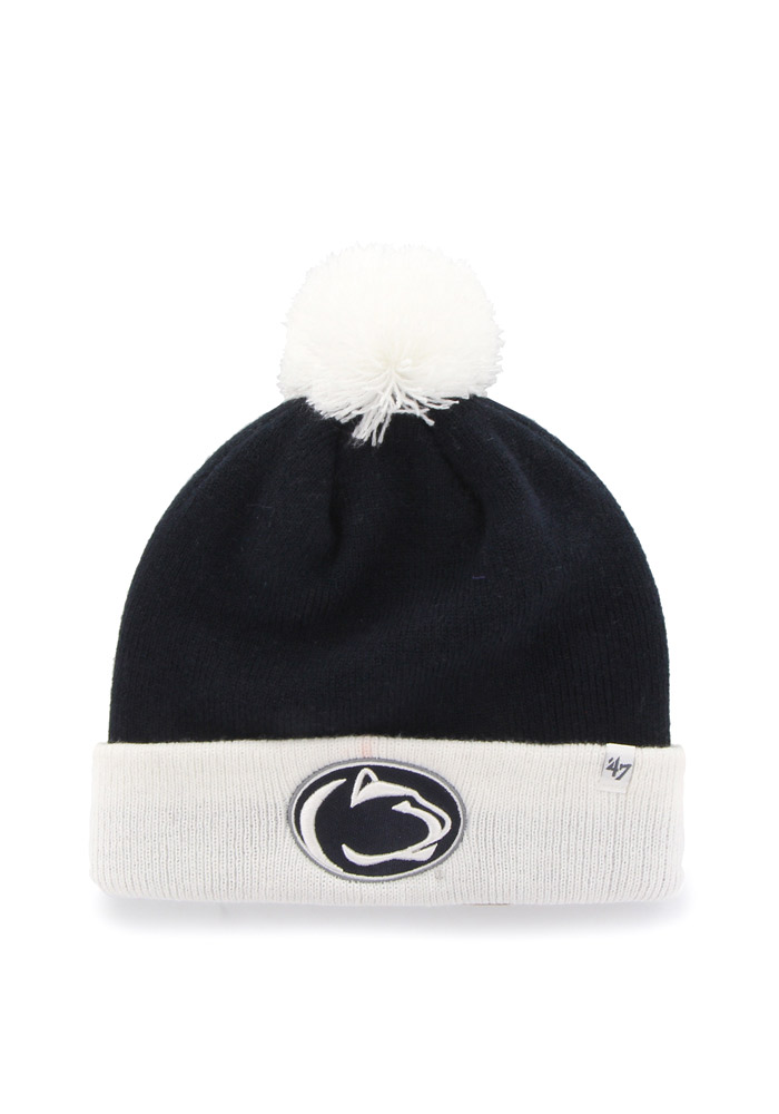 abdf6d19 ... closeout 47 penn state nittany lions navy blue bounder cuff knit hat  e4a3e 4cb3e