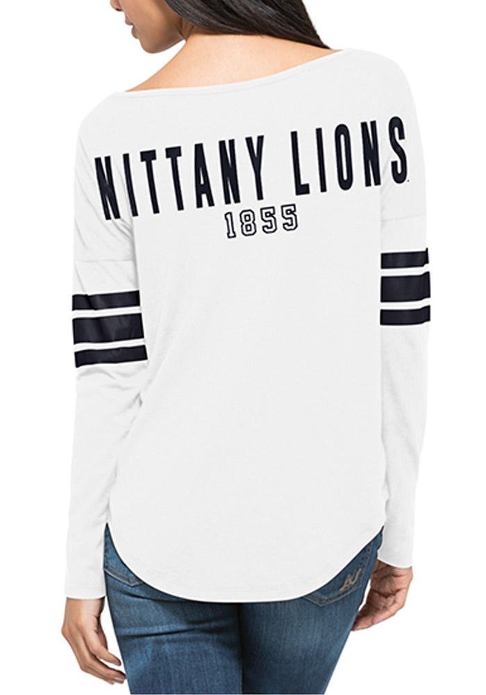 47 Penn State Nittany Lions Juniors White Courtside Tee LS Tee - Image 2