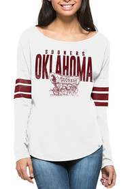 47 Oklahoma Sooners Juniors Courtside Tee White LS Tee