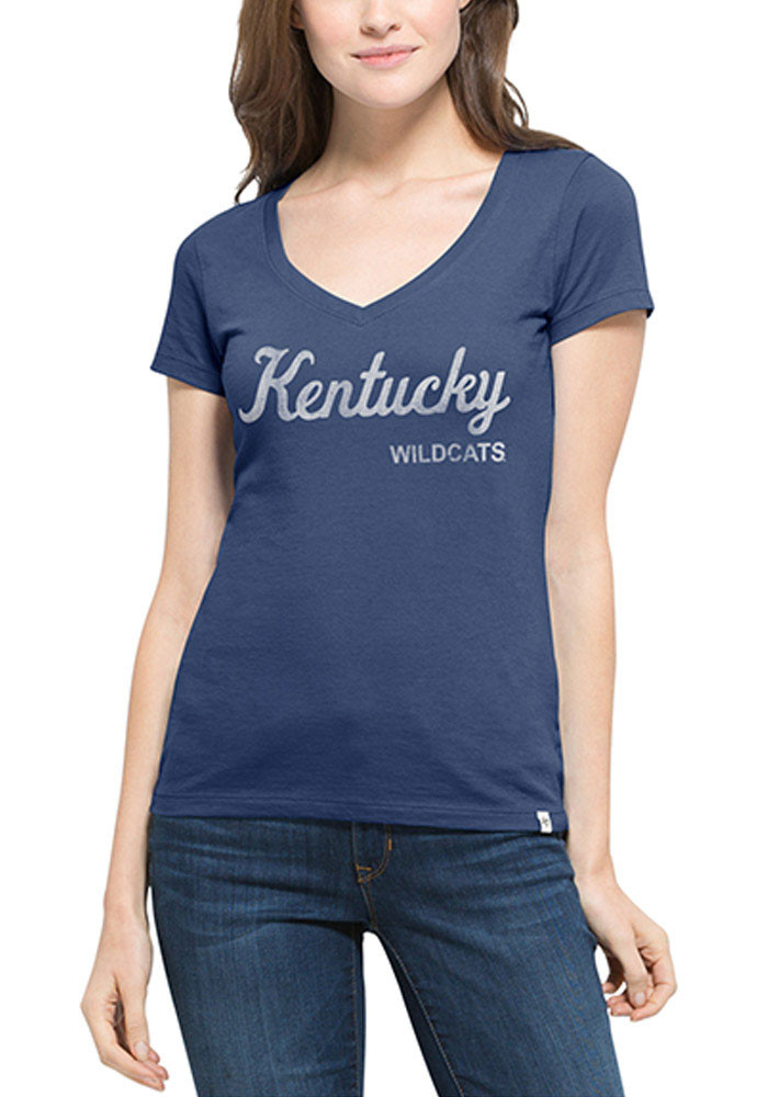 47 Kentucky Wildcats Juniors Blue Flanker MVP V-Neck T-Shirt - Image 1