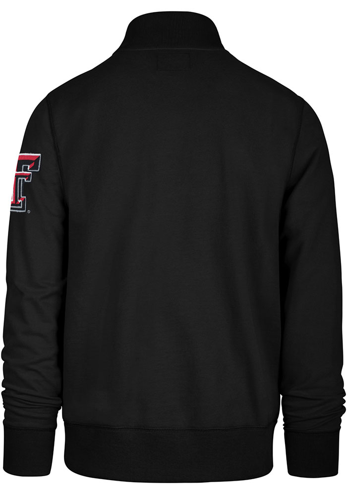 '47 Texas Tech Red Raiders Mens Black Striker Long Sleeve 1/4 Zip Fashion Pullover - Image 2