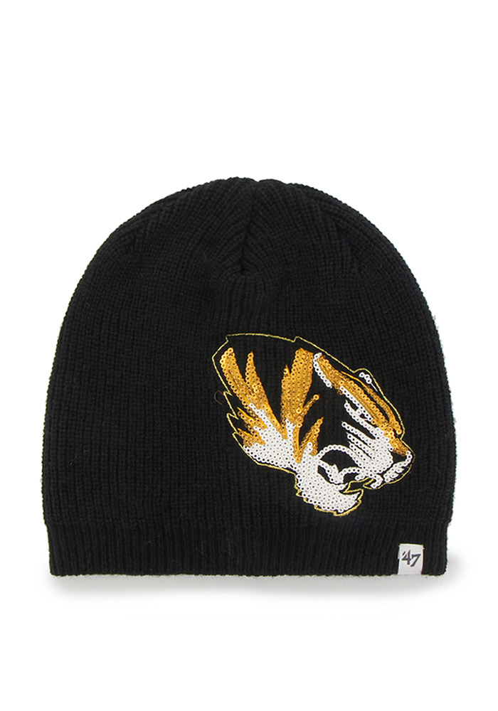 '47 Missouri Tigers Black Sparkle Womens Knit Hat - Image 1