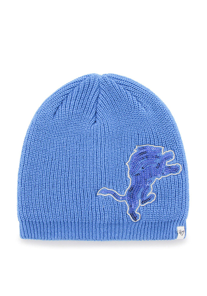 '47 Detroit Lions Blue Sparkle Womens Knit Hat - Image 1