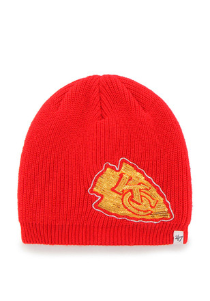 '47 Kansas City Chiefs Womens Red Sparkle Knit Hat