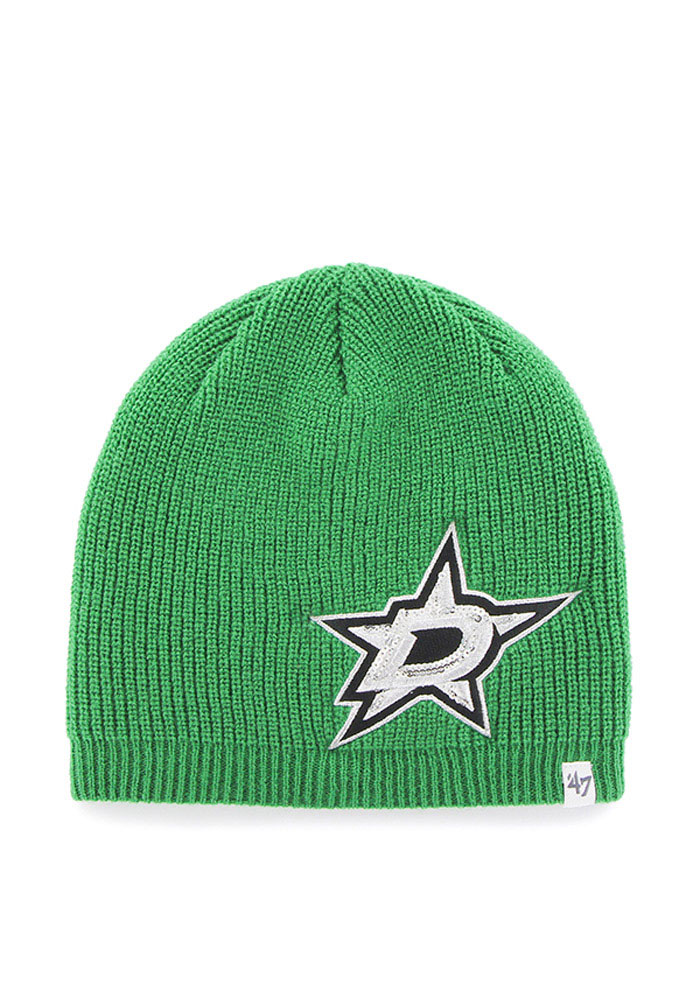 47 Dallas Stars Green Sparkle Womens Knit Hat - Image 1