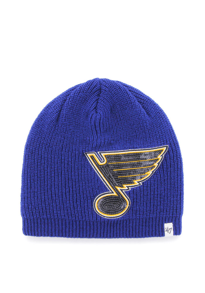 '47 St Louis Blues Blue Sparkle Womens Knit Hat - Image 1