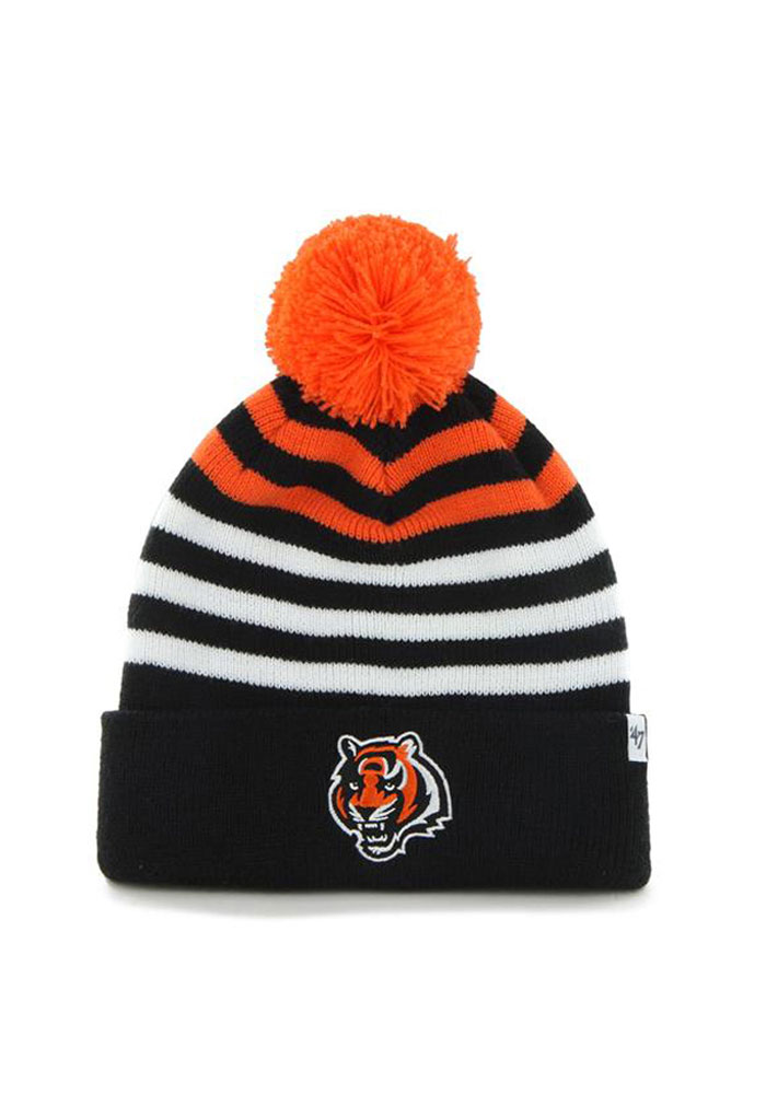 47 Cincinnati Bengals Black Yipes Cuff Youth Knit Hat - Image 1