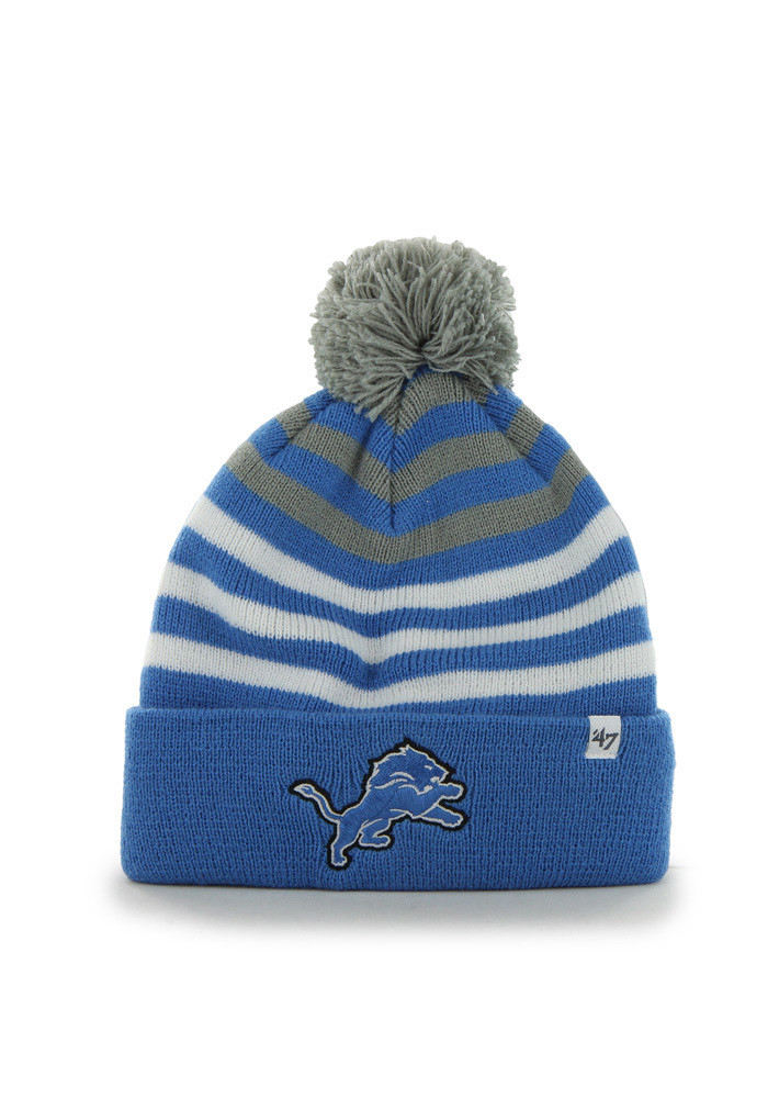 47 Detroit Lions Blue Yipes Cuff Youth Knit Hat - Image 1