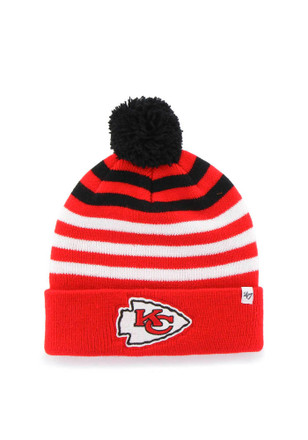 '47 KC Chiefs Red Yipes Cuff Youth Knit Hat
