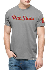 47 Pitt State Gorillas Grey Script Fashion Tee