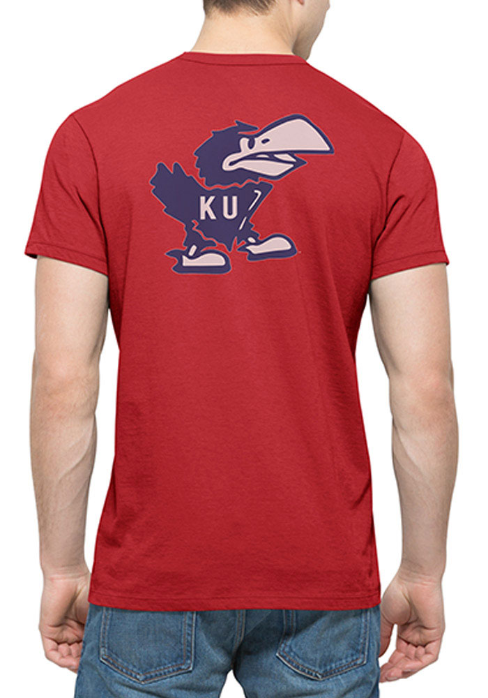 47 Kansas Jayhawks Red Crosstown Short Sleeve Fashion T Shirt - Image 2