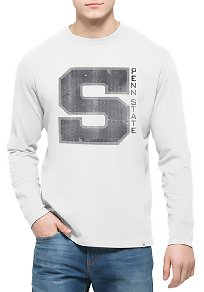 '47 Penn State Nittany Lions Mens White Flanker Long Sleeve Fashion T Shirt - Image 1