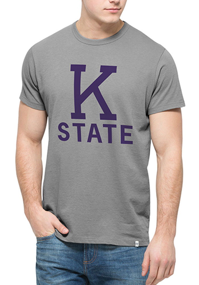 '47 K-State Wildcats Mens Grey Flanker Short Sleeve Fashion T Shirt - Image 1