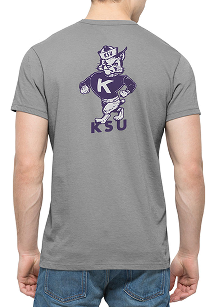'47 K-State Wildcats Mens Grey Flanker Short Sleeve Fashion T Shirt - Image 2