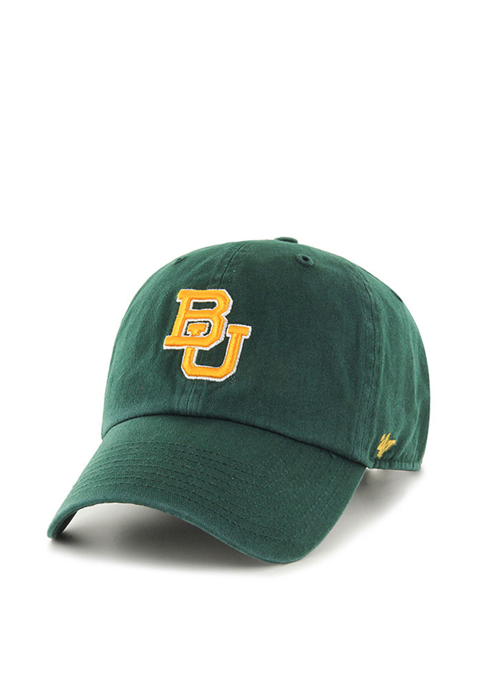 '47 Baylor Bears Mens Green Cleanup Adjustable Hat - Image 1