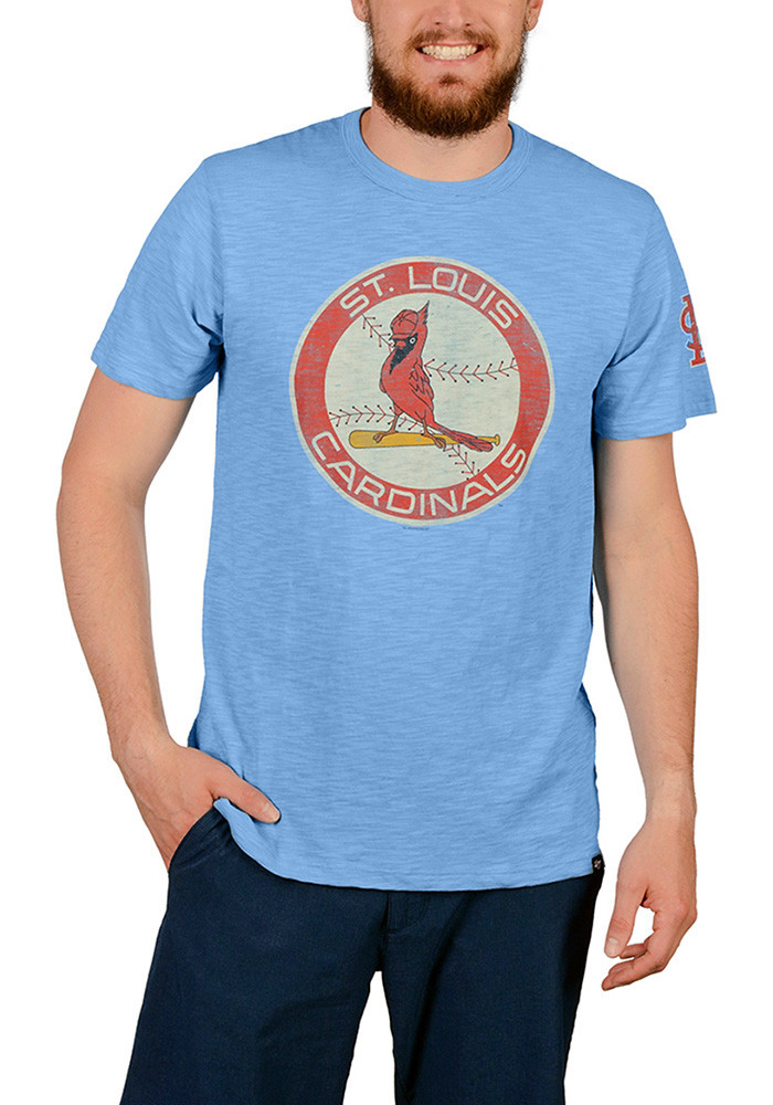 '47 St Louis Cardinals Mens Light Blue Two Peat Short Sleeve Fashion T Shirt - Image 1