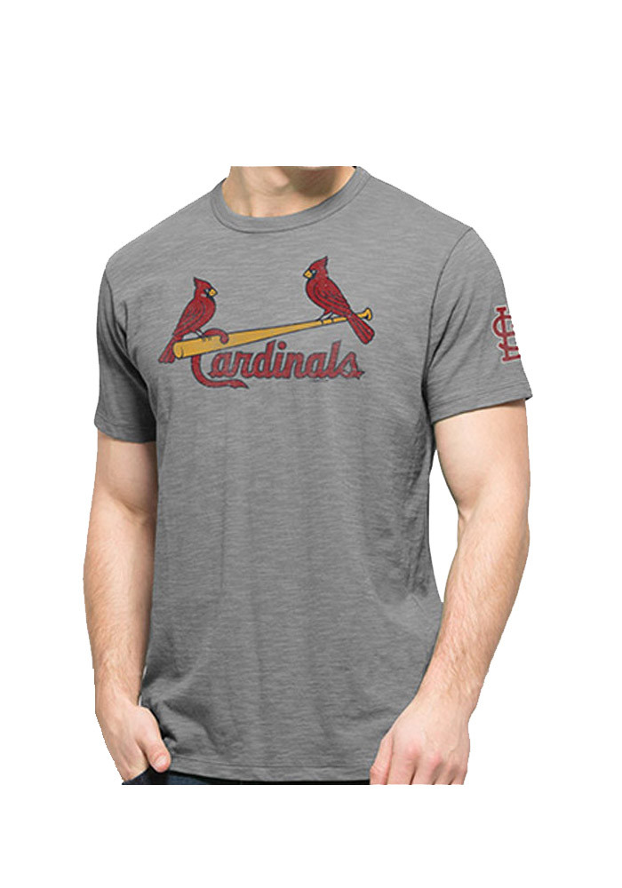 '47 St Louis Cardinals Mens Grey Two Peat Short Sleeve Fashion T Shirt - Image 1